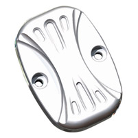 Arlen Ness Deep Cut Chrome Front Master Cylinder Cover for FLT, Dyna and Softail