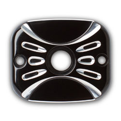 Arlen Ness Deep Cut Black Front Master Cylinder Cover for FLT, Dyna and Softail