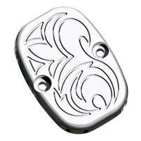Arlen Ness Chrome Engraved Rear Master Cylinder Cover