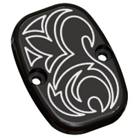 Arlen Ness Black Engraved Rear Master Cylinder Cover