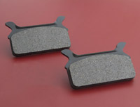 Goodridge Organic Rear Brake Pads for FLHT, FLTR, FLHR