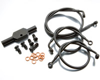 Goodridge Ebony +6 Front Brake Line Kit