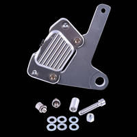 GMA FLH 10 Front FLH Brake Caliper and Bracket Brake Kit Classic Clear Annodized