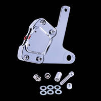 GMA FLH 10 Front FLH Brake Caliper and Bracket Front Brake Kit Smooth Chrome