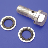 V-Twin Manufacturing 10mm Chrome Banjo Bolt