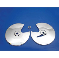 Chrome Rotor Covers for 1980-81 FLT/FLHT Models
