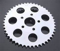 V-Twin Manufacturing Chrome 47-Tooth Rear Sprocket