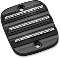 Covingtons Customs Brake Master Cylinder Cover with Black Diamond Cut Edges