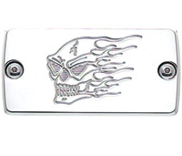 Joker Machine Chrome Billet Aluminum Master Cylinder Cover Hot Head Style