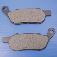 J&P Cycles® Organic Stock Replacement Rear Brake Pads for Models with Brembo Brakes