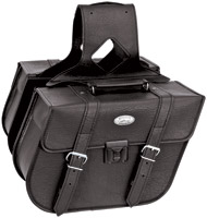 River Road Rigid Zip-Off Slant Classic Saddlebags with Security Lock