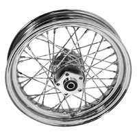 V-Twin Manufacturing Chrome Twisted Spoke Rear Wheel 16 x 3.00