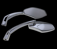 BikeMaster Chrome Fancy Spear Mirrors