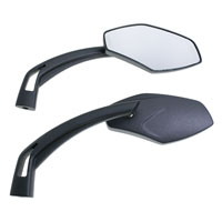 J&P Cycles® Black Fancy Spear Mirrors