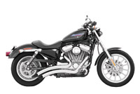 Sharp Curved Radius Exhaust System Chrome for Sportster