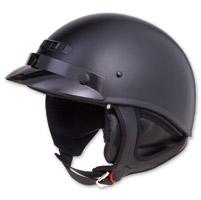 GMAX GM35 Fully Dressed Flat Black Half Helmet