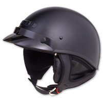GMAX GM35 Fully Dressed Flat Black Half Helmet