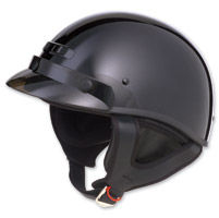 GMAX GM35 Fully Dressed Black Half Helmet