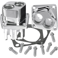 S&S Cycle Chrome Billet Tappet Guides for V-Series and SA Crankcases