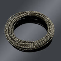 V-Twin Manufacturing Cloth Covered Black Wire 25 Foot length