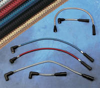 Magnum 'Sterling Chromite' Polished 8mm Spark Plug Wires for Touring Models