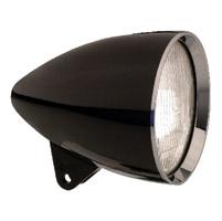 Headwinds 5-3/4″ Black Metal Concours Rocket Headlight