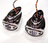 Joker Chrome Amber LED Rear Fender-Mount Marker Light