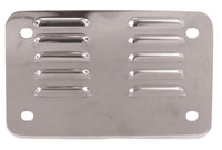 Louvered License Backing Plate