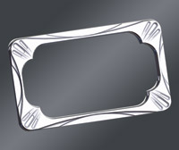 arlen ness deep cut chrome license plate frame