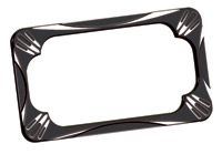 Arlen Ness Deep Cut Black License Plate Frame