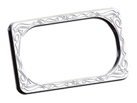 Arlen Ness Engraved Chrome License Plate Frame