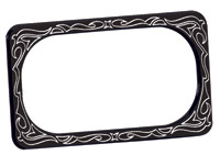 Arlen Ness Engraved Black License Plate Frame