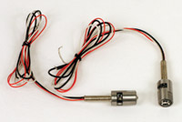 Custom Dynamics Universal Polished Dual Color LED Tag Boltz with Red Rear LEDs