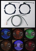 LED Light Rings for J&M Fairing Speakers on Street Glide, Ultra, Road Glide