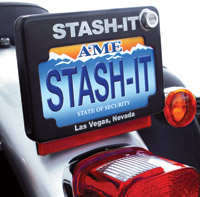 Stash-it Black License Plate Frame
