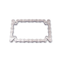 Milwaukee Twins Chrome Chain License Plate Frame