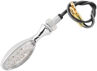BikeMaster Torpedo LED Turn Signals, Chrome