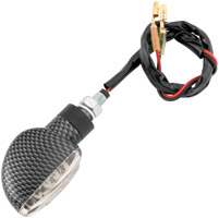 BikeMaster LED Carbon-Look Spade Turn Signals