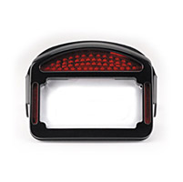 CycleVisions Eliminator Black LED Taillight/License Plate Frame for Softail