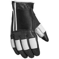 Roland Sands Design Apparel Men's Bronzo Black/White Leather Gloves