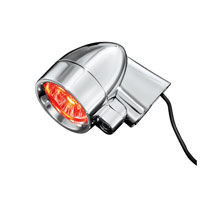 Kuryakyn Red LED Silver Bullets With Short Fender Strut Mount