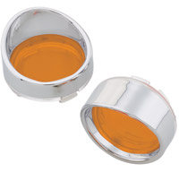 J&P Cycles® Turn Signal Lens and Bezel Kit with Amber Lenses