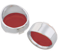 J&P Cycles® Turn Signal Lens and Bezel Kit with Red Lenses