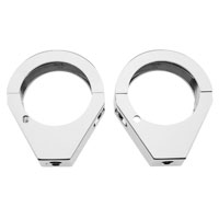 J&P Cycles Chrome 49mm Turn Signal Fork Clamps
