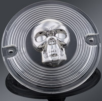 J&P Cycles® Skull Rear Turn Signal Lens