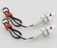 J&P Cycles® Pointed LED License Plate Light Kit