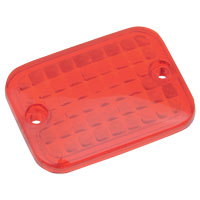 Drag Specialties Red Replacement Lens for Rectangular Marker Light