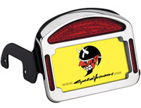 CycleVisions Eliminator Chrome LED Taillight/License Plate Frame