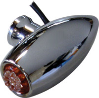 Joker Machine Astro Led Marker Lights Side Rail Mount Chrome Amber