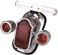 J&P Cycles® Tombstone Taillight and Turn Signal Combo with LEDs